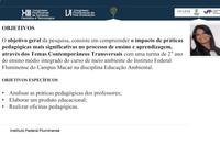 Apresentação da pesquisa da mestranda Carina Silva no CONPG.