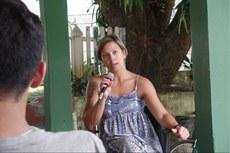 A diretora eleita, Regiane Costa, durante debate realizado no dia 07 de março de 2016