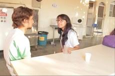 Uma das cenas gravadas para o vídeo