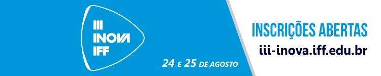 Banner Inscrições III Inova IFF