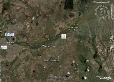 Mapa do campus Rio Paraíba do Sul/Upea.