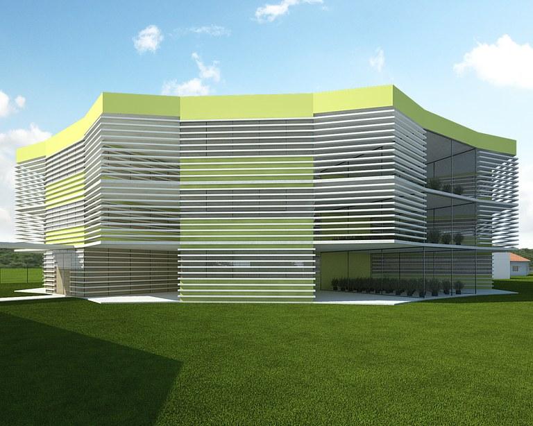 Projeto da fachada do Polo de Inovação