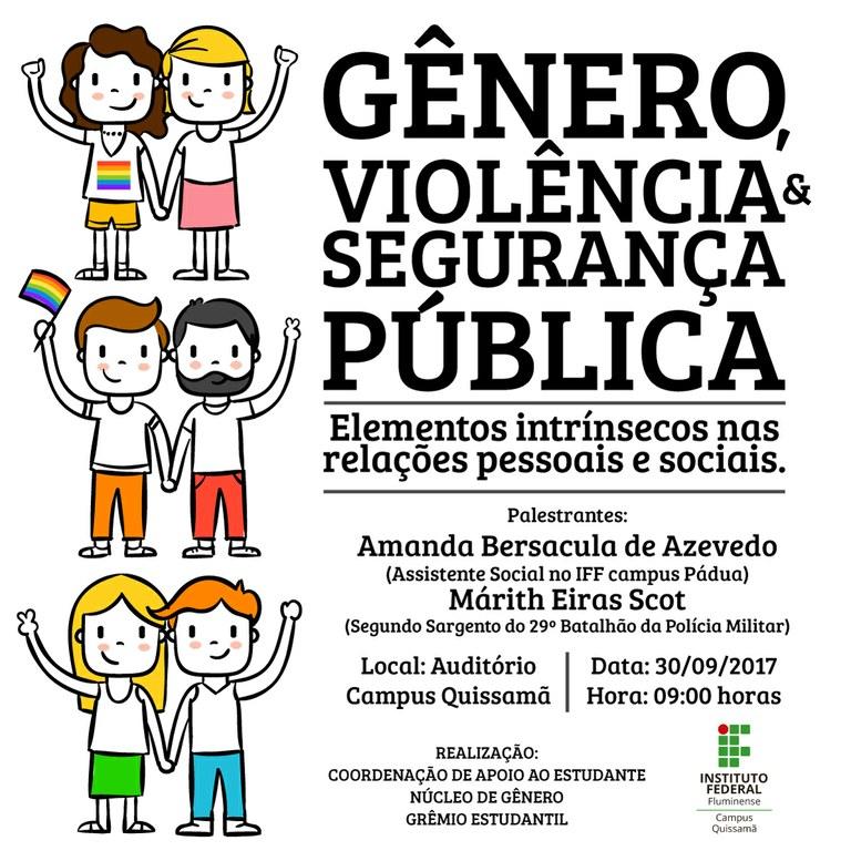 Programação evento Gênero, violência e segurança pública