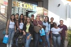 Alunos visitam a sede do Serviço Social da Indústria da Construção do Rio de Janeiro (Seconci-Rio).