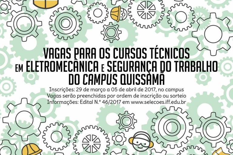 IFF oferta vagas para Cursos Técnicos no Campus Quissamã