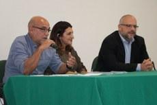 Da esquerda para a direita: Edmundo, Catia e Marcelo.