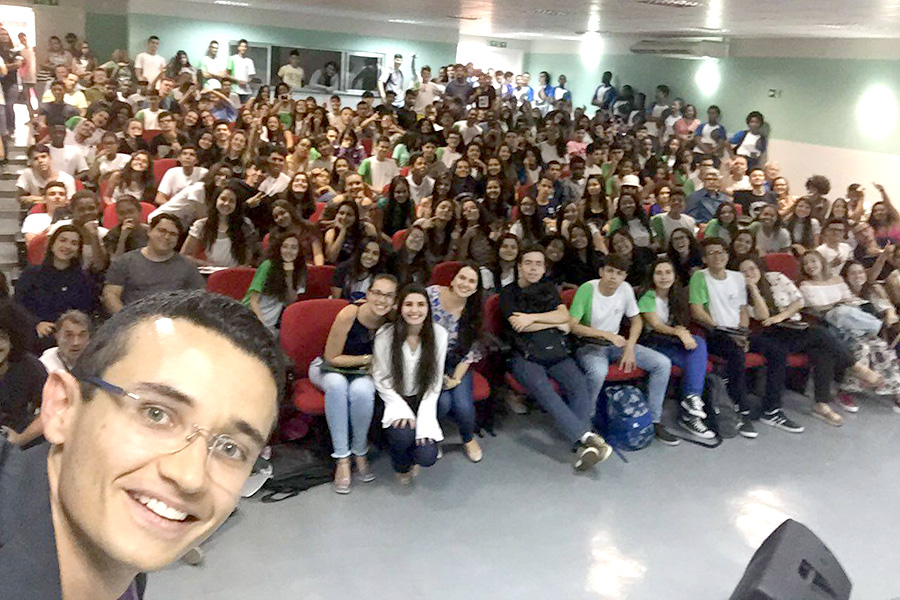 Selfie na abertura do evento