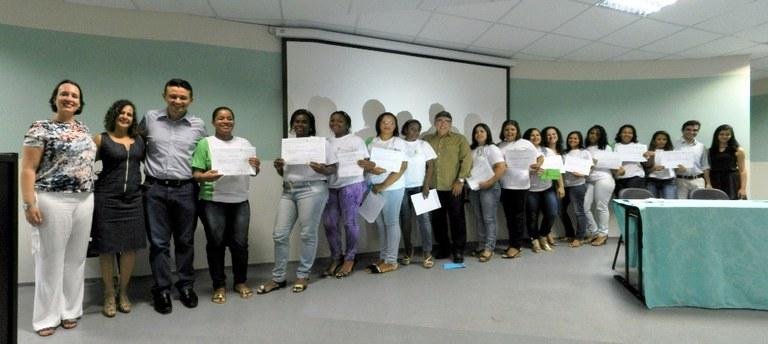 Formatura de curso do Núcleo de Gênero do campus Pádua