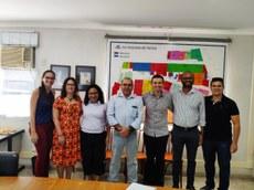 (Da esquerda para direita – Camila Sales, Lívia Brasil, Rosilene Santos, Fernando Pinheiro, Arthur Rezende, Jairo Almeida, Igor Zanata).