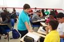 Estudantes participam de atividade pelo dia da mulher