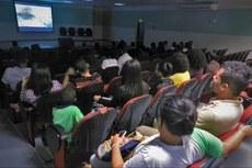 No segundo dia, as atividades foram realizadas no auditório do campus.