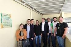 Representantes do IFF na Secretaria de Ciência e Tecnologia de Friburgo.