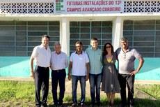 Professor Silva Neto, Mário Alfredo, Rubens Zanon, Arthur Rezende, Lívia Brasil e Vicente Oliveira.   Foto: IFF