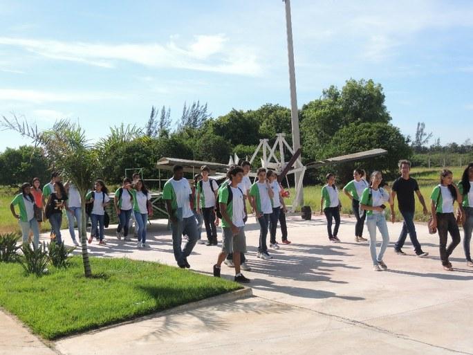 Alunos no campus SJB