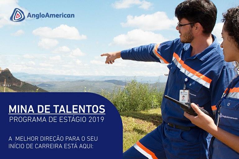 Anglo American oferece estágios de nível técnico e graduação