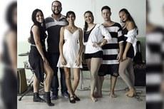 Participantes do concurso de dança