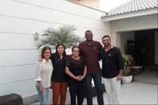 Equipe do IFF com Carla Machado.