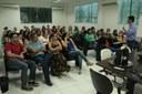 Encontro com servidores da Reitoria aconteceu no auditório.