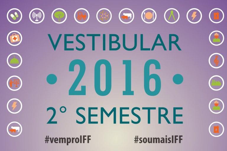 Vestibular 2016/2º semestre