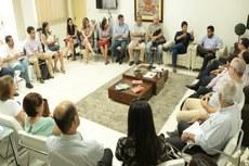 Reunião contou com a presença de dirigentes do Fidesc, Prefeito de Campos-RJ e secretários.