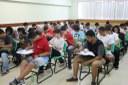 Candidatos realizando provas no Campus Campos Centro.