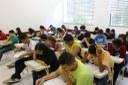 Candidatos realizando prova no Campus Campos Centro.