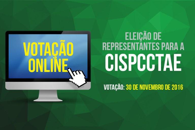 ELEIÇÃO PARA A CISPCCTAE ACONTECE NESTA QUARTA, DIA 30 DE NOVEMBRO