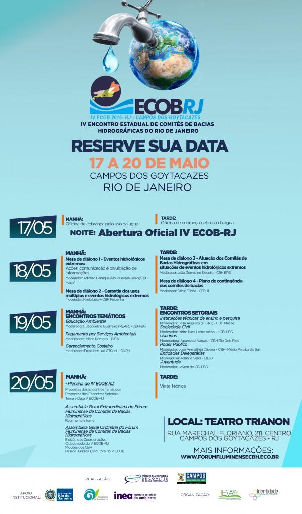 Encontro Estadual de Comitês da Bacia Hidrográfica será realizado em Campos