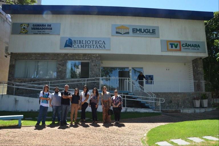 Equipe de Comunicação do IFF visita instalações da TV Câmara Campos