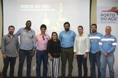 Dirigentes do IFF com gestores da Prefeitura de SJB e da Prumo Logística