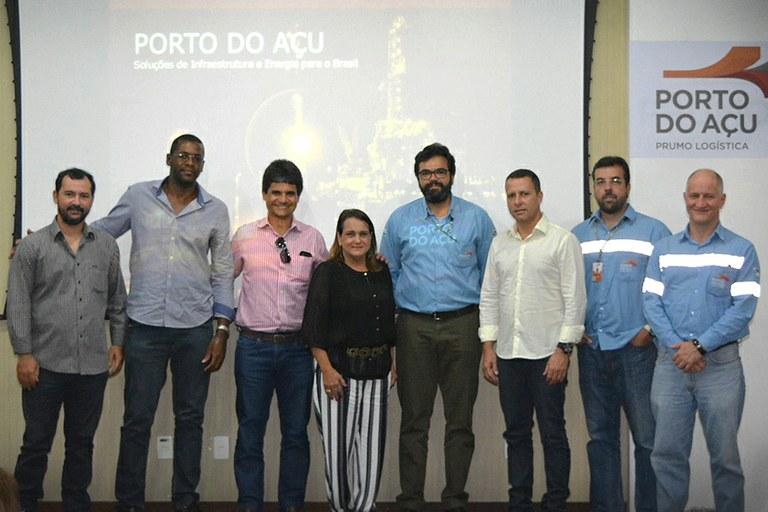 Gestores visitam instalações do Porto do Açu