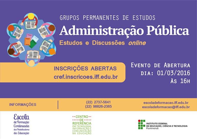 Grupo de estudos sobre Administração Pública