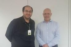 O diretor Henrique da Hora com o presidente do Inpi Luiz Otávio Pimentel