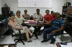 Da esquerda para a direita: Katia, Aline, Livia, Gustavo, Jonas, André e Ronaldo.