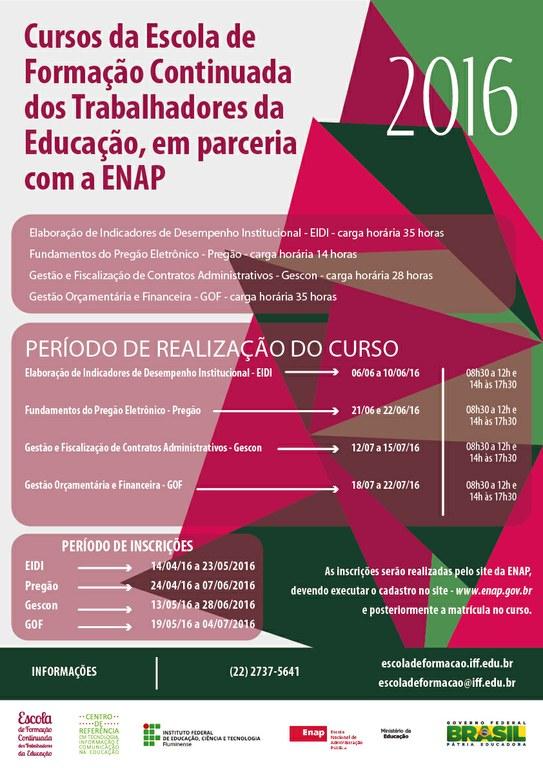 Cursos Enap em Rede 2016