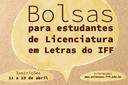 Inscrições para Bolsas de Desenvolvimento Acadêmico e Apoio Tecnológico