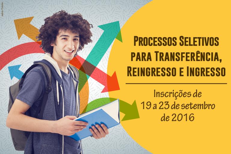 Inscrições para Transferências, Ingresso e Reingresso