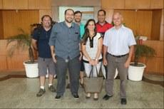 Equipe de professores (da esquerda para a direita): Milton Erthal, Henrique da Hora, Rogério Atem, Simone Vasconcelos, Luiz Moura e João José Rangel.