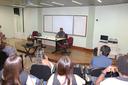 Pró-reitor Vicente de Oliveira dá boas-vindas aos estudantes
