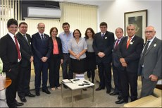 Reitores que integram o Conif com gestores do MEC (Foto: Divulgação Conif)
