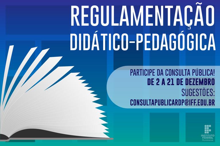 Nova Regulamentação Didático-Pedagógica está disponível para consulta pública