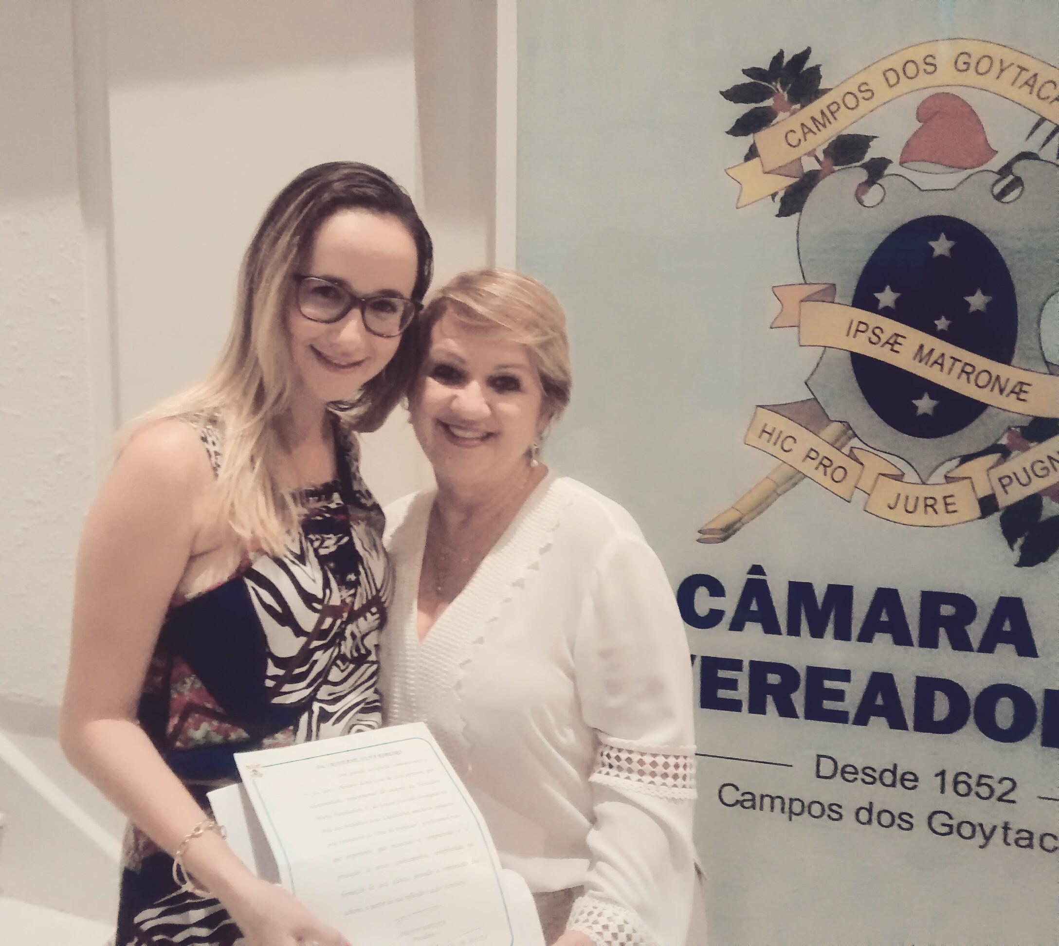 Homenagem na Câmara de Vereadores de Campos