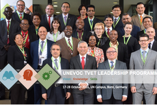 Primeira turma do programa de formação de lideranças do Unevoc/Unesco.