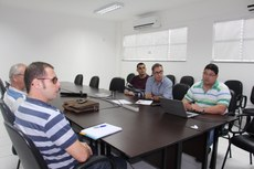 A primeira reunião aconteceu no Centro de Referência, em Campos-RJ, para tratar de obra do campus Campos Guarus.