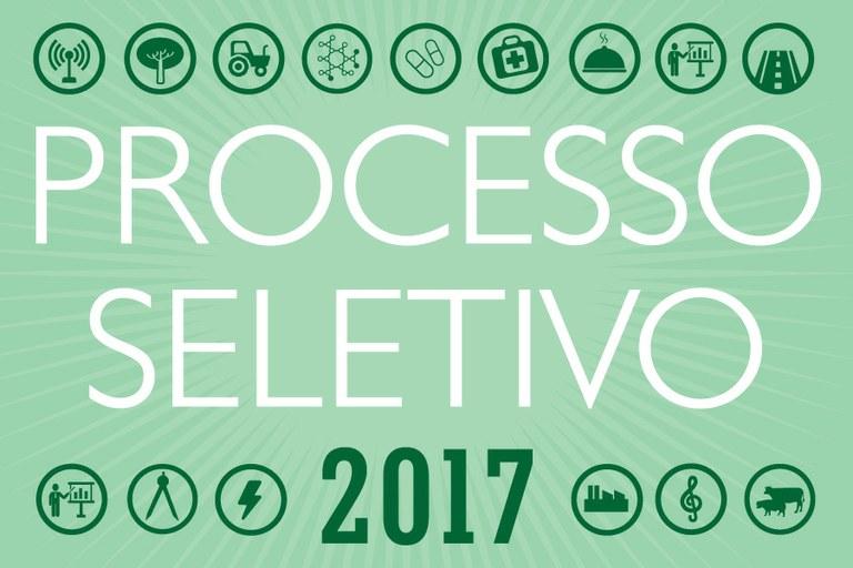 Resultado final do Processo Seletivo 2017 - 1° Semestre