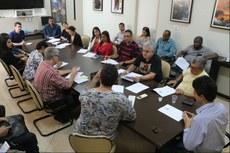 Reunião aconteceu na sala Rubens Moll do Campus Centro.