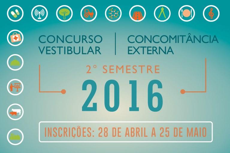 Banner Vestibular e Concomitância Externa 2º semestre/2016