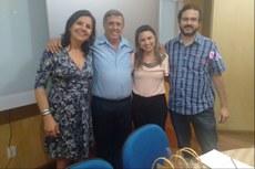 Da esquerda para a direita: Sandra, Gerson, Christiane e Carlos.