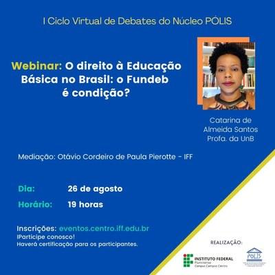 I Ciclo de Debates do Núcleo Pólis - Webinar Catarina