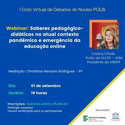 I Ciclo de Debates do Núcleo Pólis - Webinar Cristina